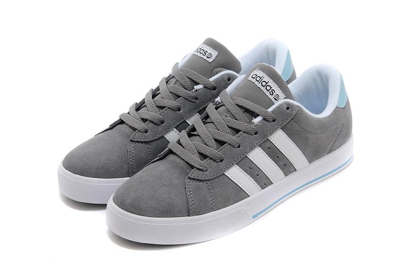 Men's/Women's Adidas NEO SE Daily Vulc Suede Shoes Tech Grey ...