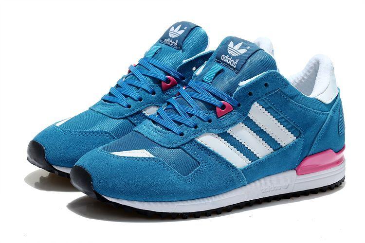 Men'sWomen's Adidas Originals ZX 700 Shoes Hero BlueWhite