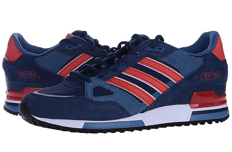 Men's/Women's Adidas Originals ZX 750 Shoes Collegiate Navy/Red ...