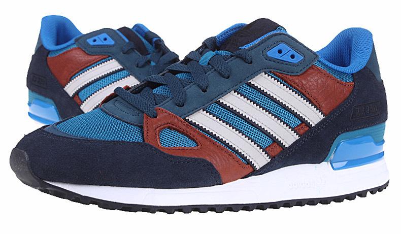 3d8f1ef96 Men s Women s Adidas Originals ZX 750 Shoes Navy Blue Bluebird ...