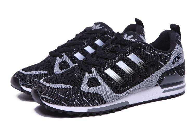 3056b51a2 ... france mens adidas originals zx 750 flyknit shoes black silver 78902  d2e4d