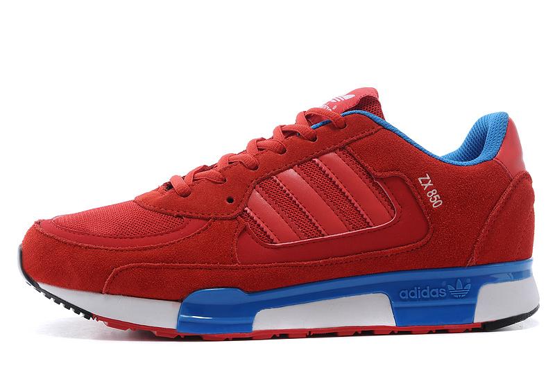best sneakers 6f4d7 03290 ... MensWomens Adidas Originals ZX 850 Shoes Cardinal ...