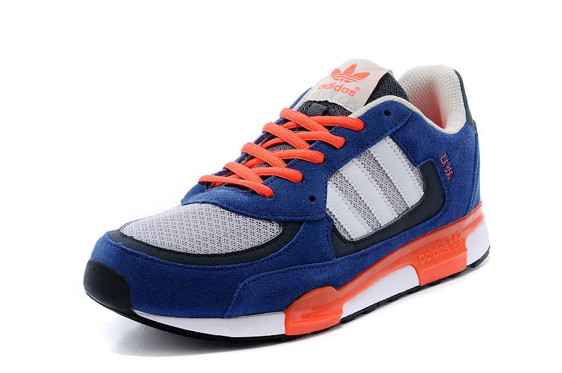 8815feb72 Men s Women s Adidas Originals ZX 850 Shoes Iron Blue Bright Red ...