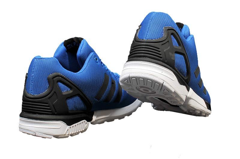 8c4445568c14c ... Men  s adidas Originals ZX Flux Firework Prints Shoes Blue Black White  M21328 ...