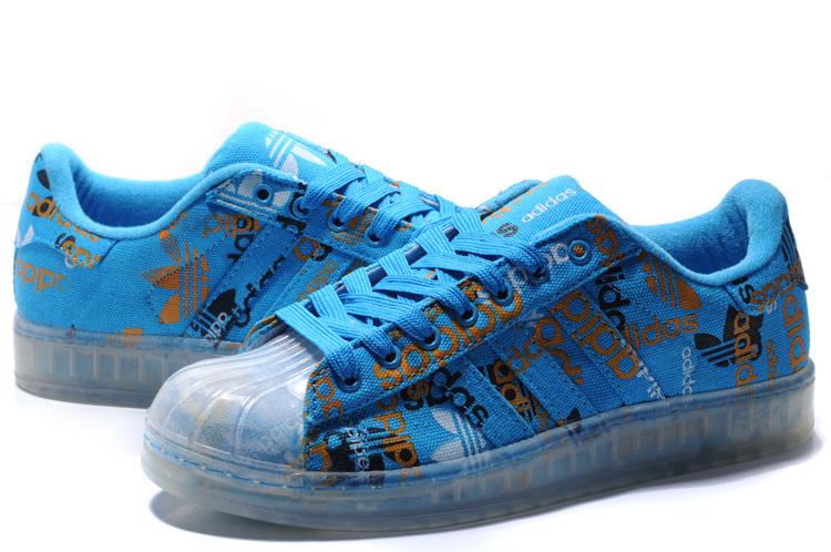 premium selection de0bf 9d45a ... Men  s Women  s Adidas Originals Superstar CLR Shoes Blue 027784 ...