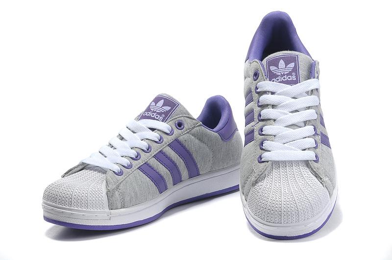 Men s Women s Adidas Originals Superstar 2 Casual Shoes Grey Purple ... df234caa5e