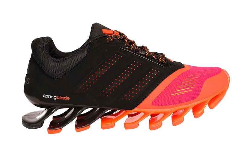 d5c5ab2f6bcd Men  s Adidas Springblade 4 Running Shoes Black Orange Red ...