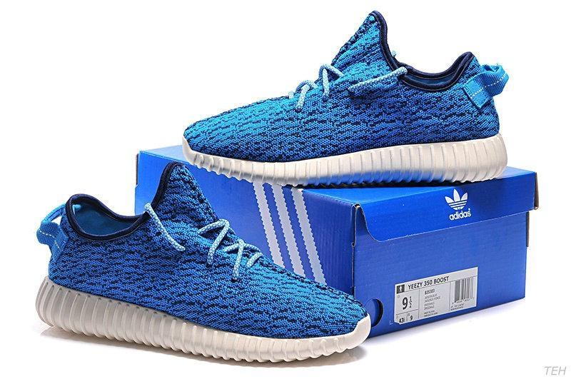 f46ac6ad4a7a6 Men s Women s Adidas Yeezy Boost 350 Shoes Blue B35303  Adidas2016 ...