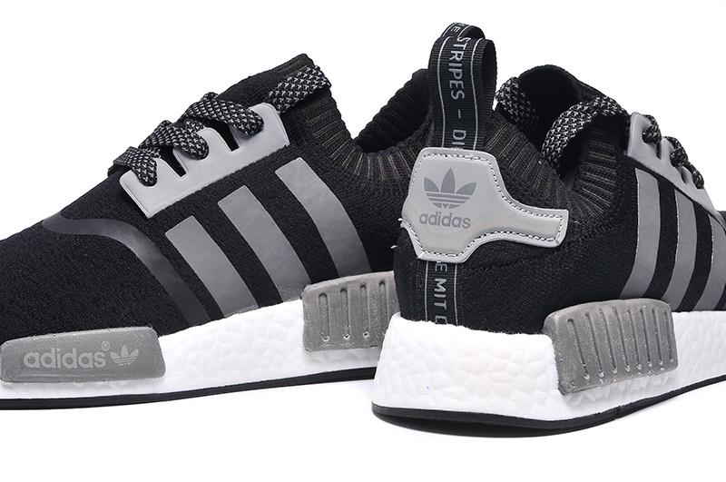 Men s Women s Adidas Originals NMD High Top Sneaker Black Grey ... 4f8b5736b